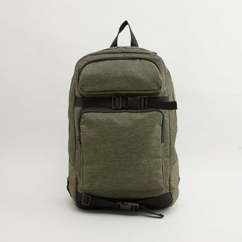 Textured Backpack with Adjustabe Shoulder Straps and Zip Closure