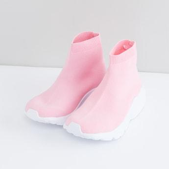 حذاء سهل الارتداء برقبة عالية
