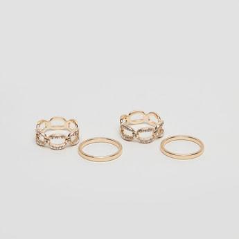 Set of 4 - Assorted Finger Rings