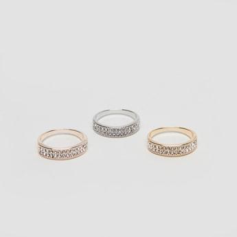Set of 3 - Stud Detail Finger Rings