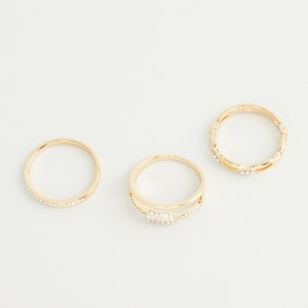 Set of 3 - Stone Studded Ring
