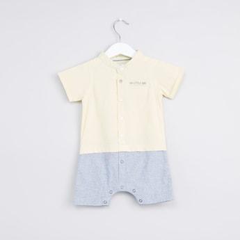 Mandarin Collar Short Sleeves Romper
