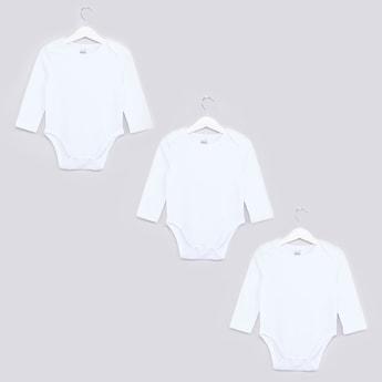 Round Neck Long Sleeves Bodysuit - Set of 3