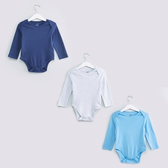 Long Sleeves Bodysuit - Set of 3