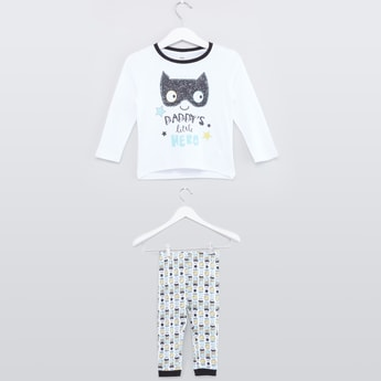 Printed T-shirt with Long Sleeves with Jog Pants