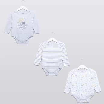 Set of 3 - Assorted Bodysuits with Button Closure
