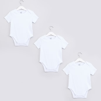 Bodysuit with Button Closure - Set of 3