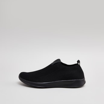 Textured Slip On Sneakers