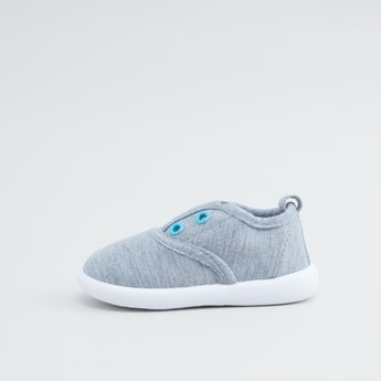 Melange Slip On Canvas Shoes with Gusset