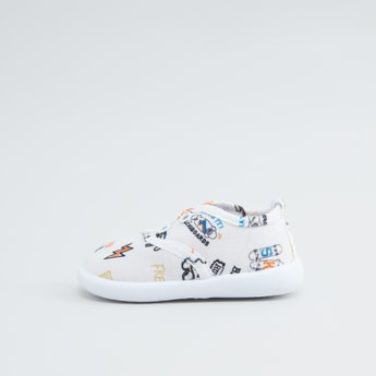Graphic Printed Slip On Shoes