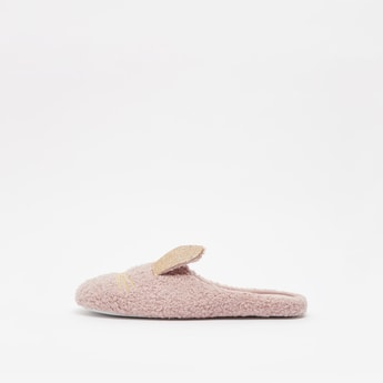 Rabbit Applique Bedroom Slippers