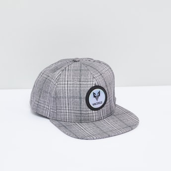 Chequered Cap with Snap Closure