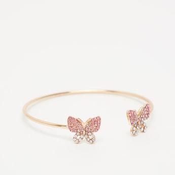 Studded Butterfly Cuff Bracelet