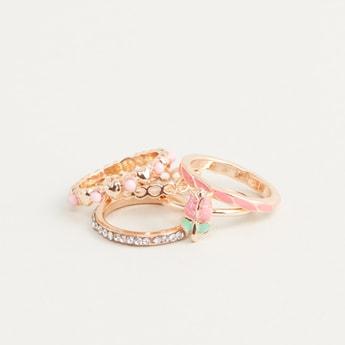 Set of 5 - Embellished Ring