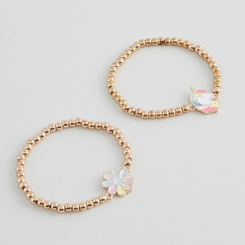 Set of 2 - Applique Detail Bracelets