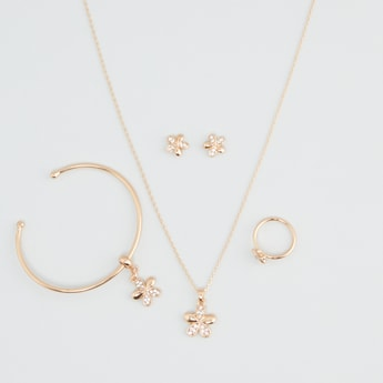 Studded 4-Piece Jewellery Set