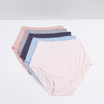 Full Briefs with Elasticised Waistband - Set of 5