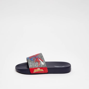 Spider-Man Print Slip On Sliders