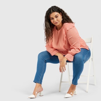 Super Skinny Ankle Length High-Rise Jeggings