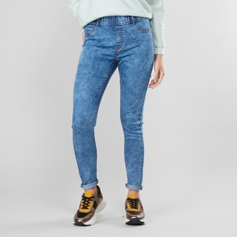 Super Skinny Full Length High-Rise Snow Washed Jeggings