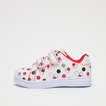 Minnie Mouse Print Shoes with Hook and Loop Closure