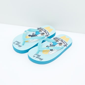 Mickey Mouse Beach is Best Printed Flip Flops