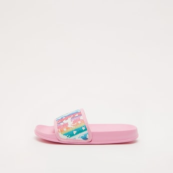 Unicorn Print Slip-On Sliders