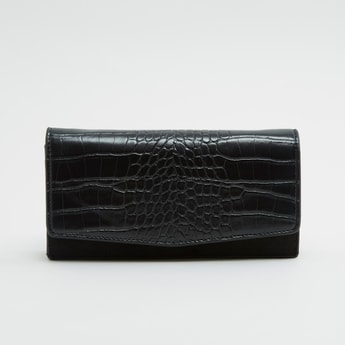 Textured Wallet with Sling Strap