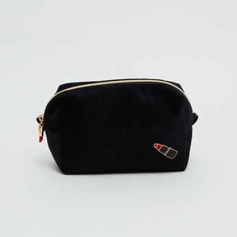 Printed Cosmetic Pouch with Zip Closure