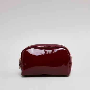 Glossy Finish Pouch with Zip Closure
