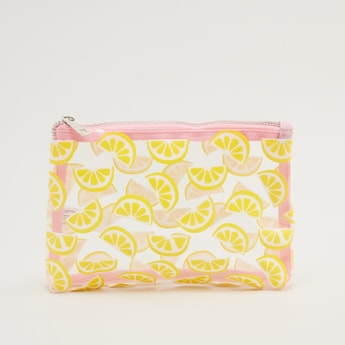 Printed Clear Pouch with Zip Closure