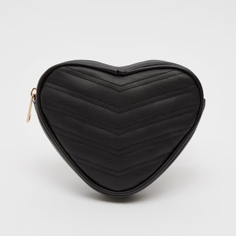 Quilted Heart-Shaped Fanny Pack