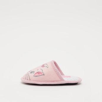 Printed Closed-Toe Bedroom Slippers