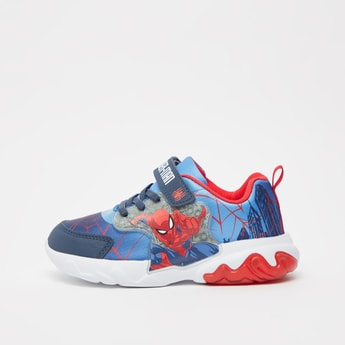 Spider-Man Print Sports Shoes with Hook and Loop Closure