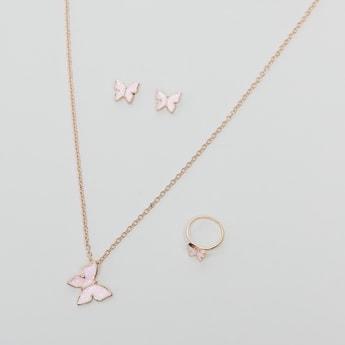 Butterfly Detail 3-Piece Jewellery Set