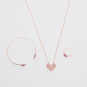 Studded 3-Piece Jewellery Set