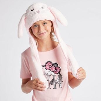 قبعة قطيفة بزخارف أرنب