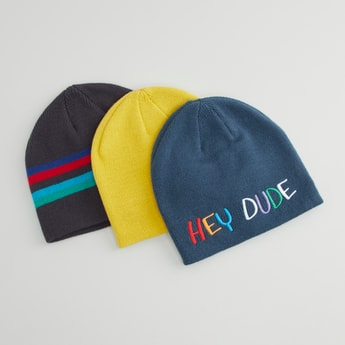 Set of 3 - Assorted Beanie Caps