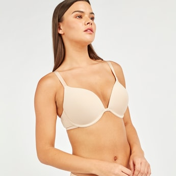 Plunge Bra with Hook and Eye Closure