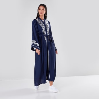 Full Length Embroidered Abaya with Long Sleeves