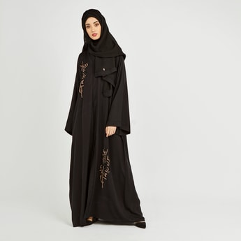 Embellished Detail Abaya with Long Sleeves