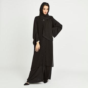 Embellished Abaya with Long Sleeves