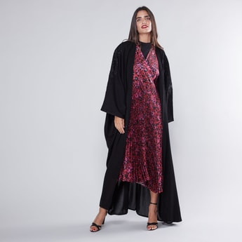 Embroidered Detail Abaya with Long Sleeves