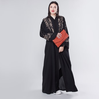 Embroidery Abaya with Long Sleeves