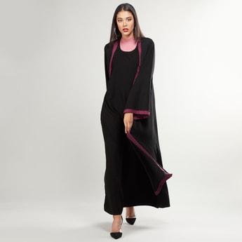 Plain Abaya with Long Sleeves and Tie Ups