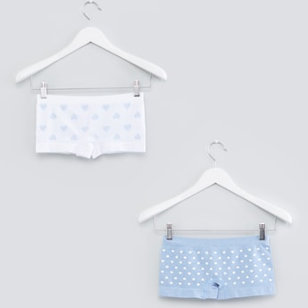 Printed Briefs with Elasticised Waistband - Set of 2