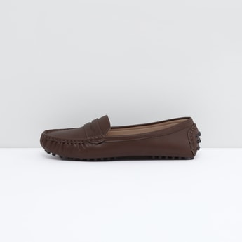 Solid Slip-On Loafers