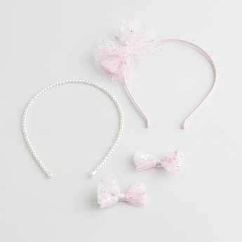 Embellished 4-Piece Hair Accessory Set