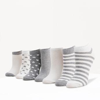 Set of 6 - Assorted Ankle Length Socks with Cuffed Hem