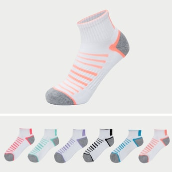 Set of 6 - Striped Ankle Length Socks